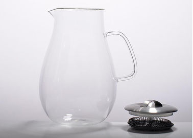 Large Capacity Glass Teapot With Stainless Filter / Lids For For Tea , Coffee